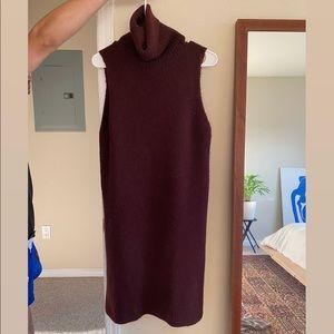 Zara purple wool blend turtleneck tunic/dress